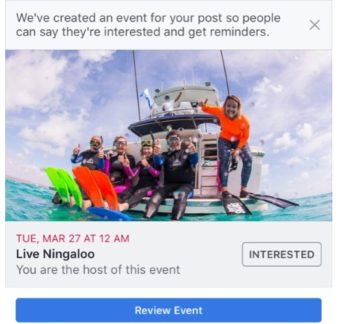 FB Pages Auto Create Events